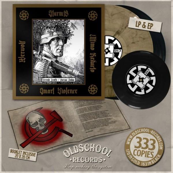 Sturm 18, Smart Violence, Ultimo Reducto, Werwolf – Vereinte Kräfte / Fuerzas Unidas LP schwarz
